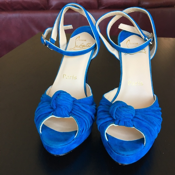 6876d615720 Louboutin Suede Greissimo Mule Sandals-US 7/EU 37